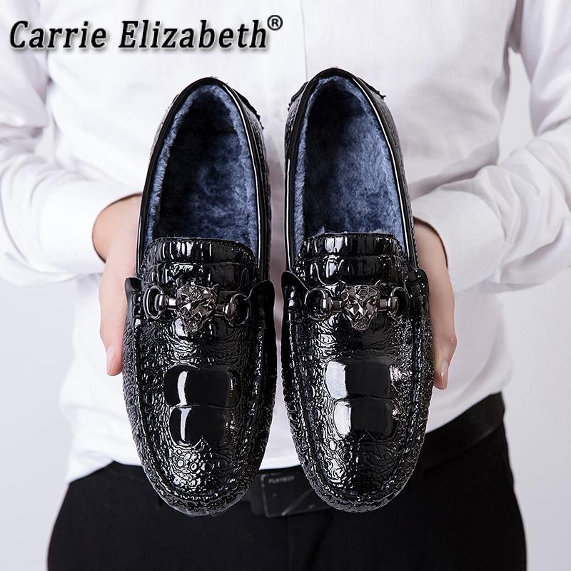 Mocasines de piel para hombre, Mocasín de piel de estilo Cocodrilo, calzado a la moda, zapatos informales para conducir, felpa clásica para hombre 38-47