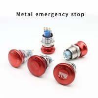 161922mm stainless steel emergency stop switch push button switch latching 1no1nc 2no2nc car button pin terminal 22jt
