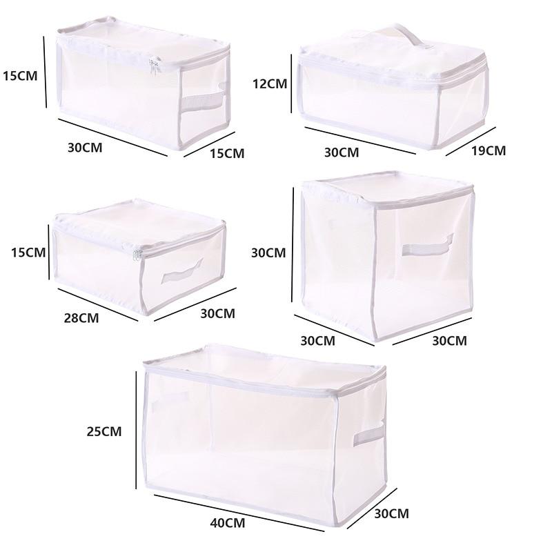 New Foldable Closet Organizer for Clothing Storage Box Separated Underwear Storage Case for Bra Socks Scarf Quilt Storage Bag