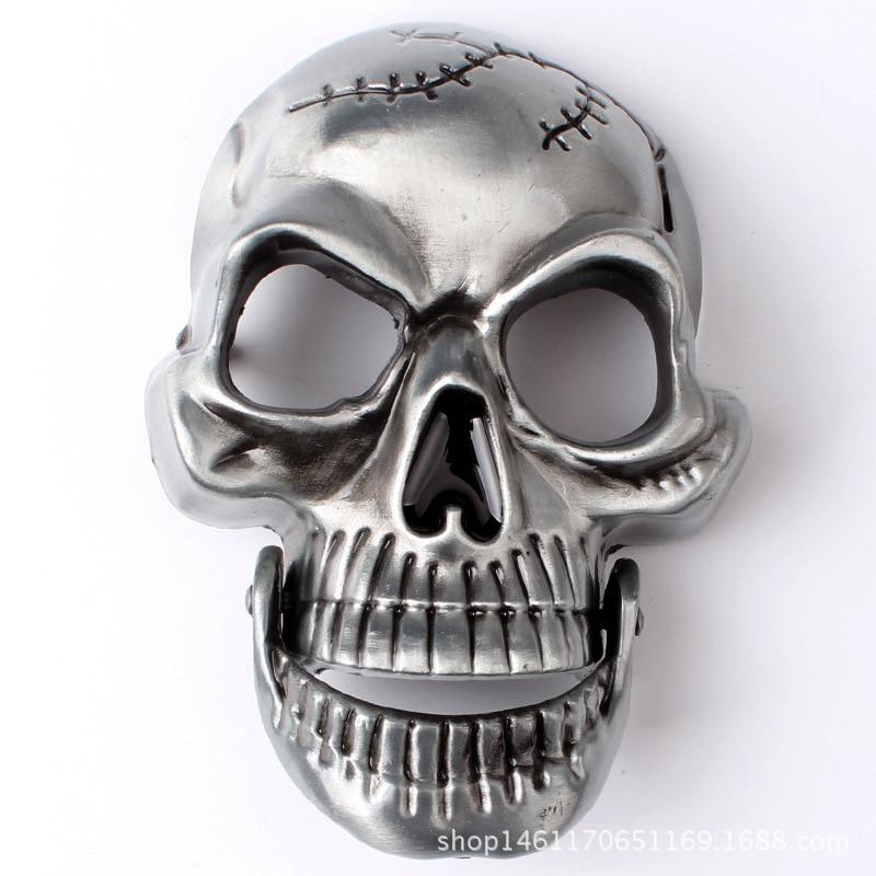 rock style Belt DIY accessories Skull skeleton belt buckle Western cowboy style Smooth belt buckle Punk rock style k18