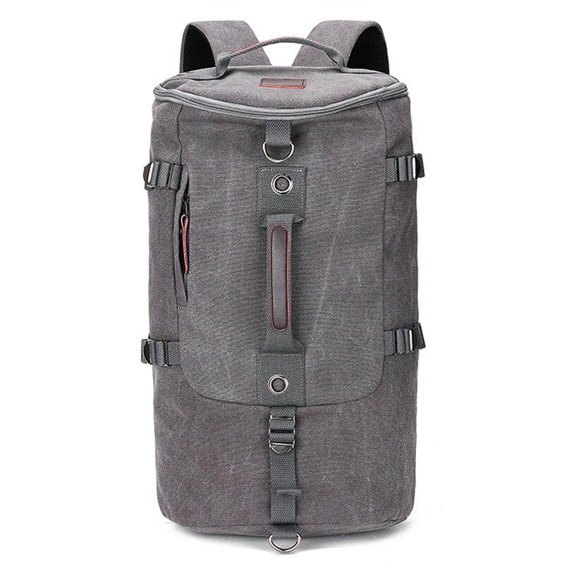حقيبة السفر حقيبة أنيقة ذات سعة كبيرة للرجال في الهواء الطلق الرياضة على ظهره الاتجاه قماش حقيبة مدرسية الطالب