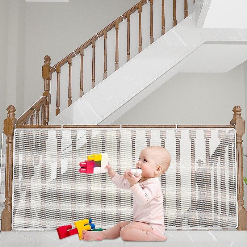 banister protetor de bebes tela branca seguranca do bebe rede grossa de trilho impermeabilizacao