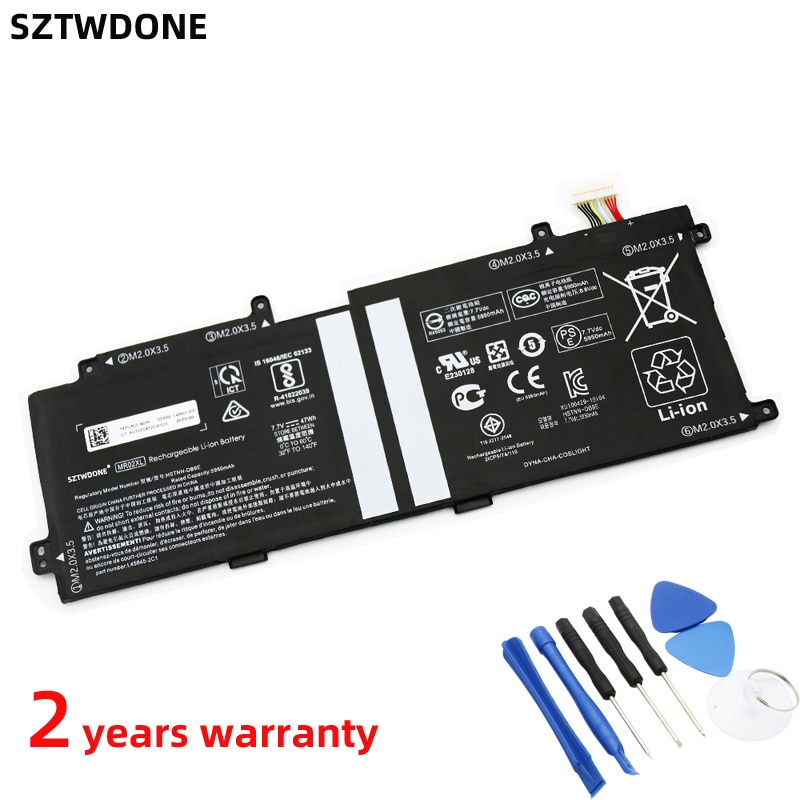 SZTWDONE MR02XL Laptop battery For HP MR02XL HSTNN-DB9E L45645-2C1 L46601-005 7.7V 47WH 5950MAH