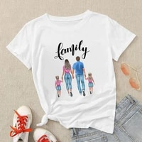 brazilian mother and daughter clothes t shirts family well being stylish happy young woman short sleeve beautiful blous trend
