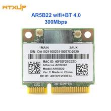Dual band 2.4G/5G Atheros AR5B22 AR9462 300Mbps mezza Mini PCIE WiFi + BT 4.0 Bluetooth 4.0 WIFI Adattatore di Rete