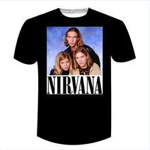 Camisa de t do vintage do rock da música do rock do vintage camiseta legal camiseta superior do nirvana camisa de t dos irmãos hanson nirvana