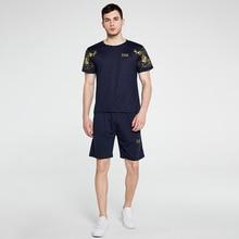 Summer Men's Sportsuit 2 Short Sleeved Printed T-Shirt + Lash Jogging Shorts European Size Outdoor F