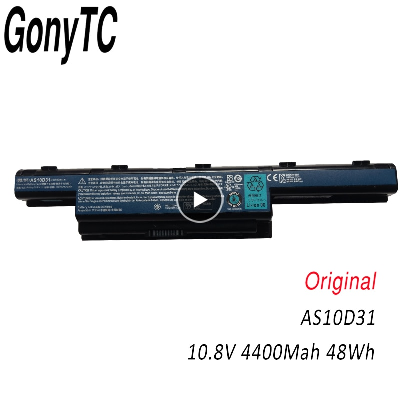 GONYTC AS10D31 Original Laptop Batterie Für Acer für Aspire V3 5741 5742 5750 5551G 5560G 5741G 5750G AS10D51 AS10D61 AS10D71