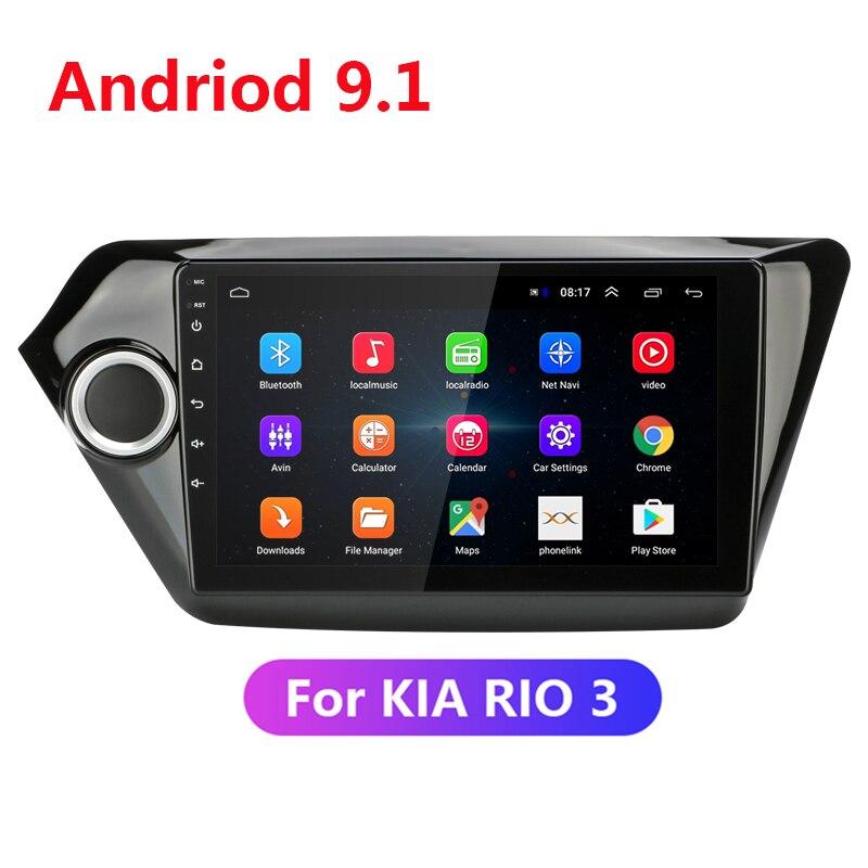 """9 """"2 Din Android 9,1 2G + 32G auto Radio Multimedia reproductor de vídeo 2din navegación GPS para KIA RIO 3 4 2011-2018 enlace espejo WIFI BT"""