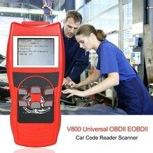 DHL/UPS/FEDEX expédition Express en gros LCD affichage moteur de voiture diagnostiquer Scanner peut OBDII/EOBDII lecteur de Code V800