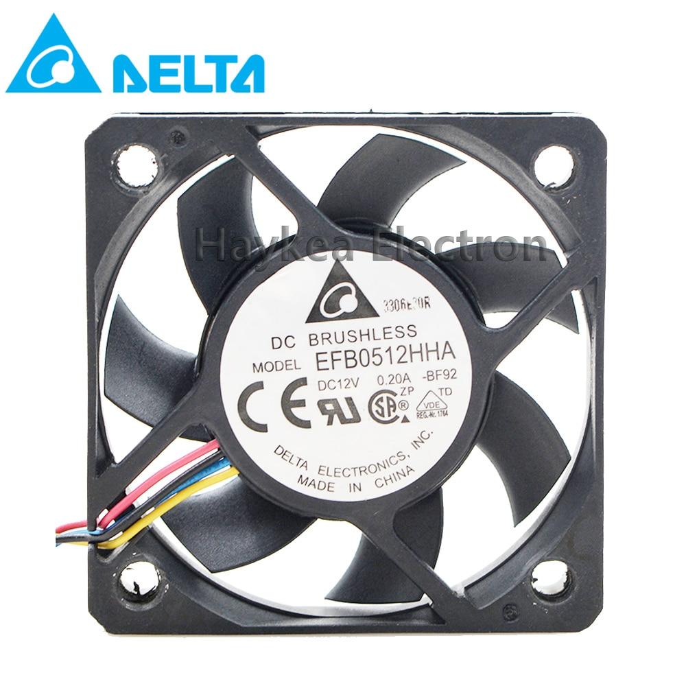 Para delta efb0512ha efb0512hha 5010 dc 12 v 0.20a 0.15a 3 pinos ou 4 pinos computador pc caso servidor inversor ventiladores de refrigeração axial refrigerador