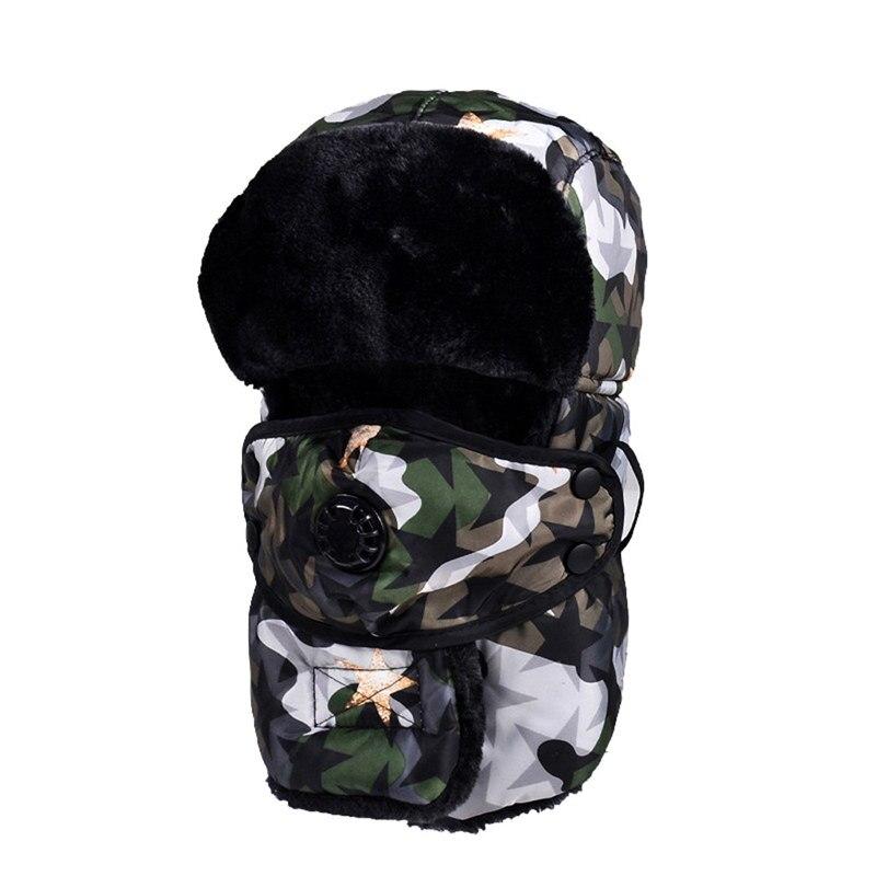 Камуфляжная ветрозащитная Лыжная Шапка-трапеция, теплая шапка с ушками и маской, теплые охотничьи шапки для мужчин и женщин, зимняя Новинка 7