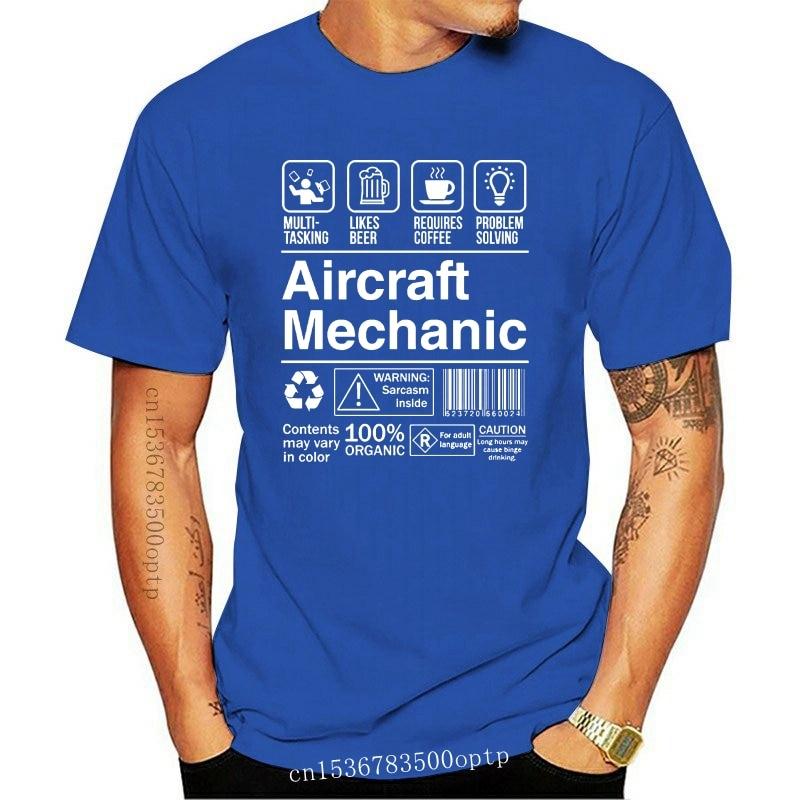 New 2021 Hip Hop T Shirt 100% Cotton Short Sleeve T Shirt Aircraft Mechanic Product Label Tee Shirt