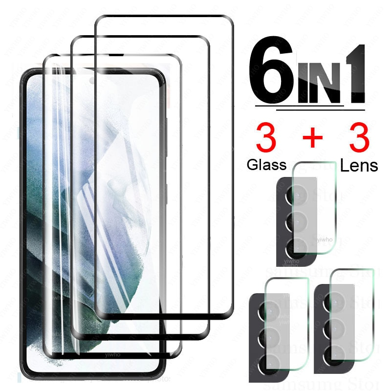 Tempered Glass for Samsung Galaxy S21 Plus Glass Screen Protector Glass for Samsung S21+ S 21 + Came