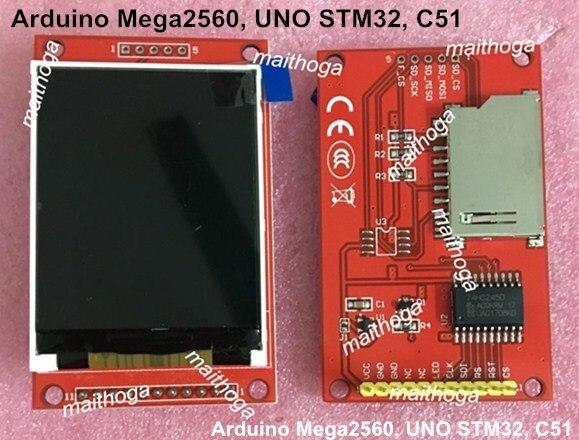 Uno mega2560 2.2 polegada spi tft lcd módulo de tela colorida ili9225 drive ic 176*220 3.3 v 5 v 4 io
