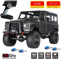 high speed 63cm 2 4ghz rc racing car off load climbing truck alloy independent shock absorption waterproof car 2 battery toy rtf