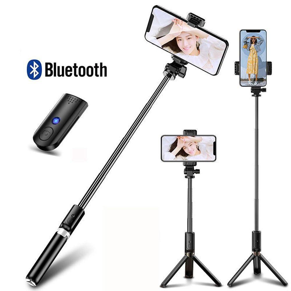 אלחוטי Bluetooth Selfie מקל עבור IPhone Xiaomi Huawei חדרגל חצובה מתקפל כף יד תריס מרחוק להארכה Selfie מקל