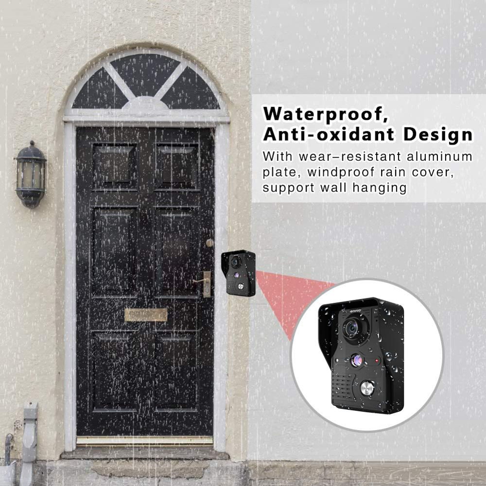 Visual 7'' TFT LCD Wired Video Door Phone Intercom Entry System Waterproof Camera with Infrared Support Unlock For Home Security enlarge