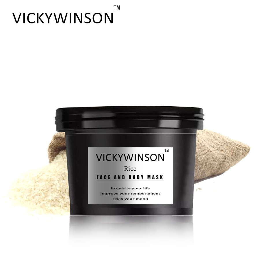 VICKYWINSON Rice scrub cream 50g Facial Cleanser Natural Facial Exfoliating Brightening Peeling Cream Gel Face Scrub Removal недорого