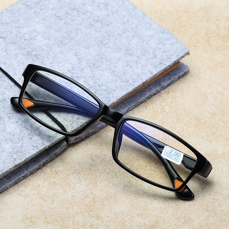 Myopia Glasses Men Women Prescription Nearsighted Eyeglasses TR90 Optical Shortsighted Eyewear Myopic Spectacles 0 -1.0 To -4.0 titanium alloy half rim prescription glasses business men square semi rimless myopia optical frame eyewear man spectacles s1119