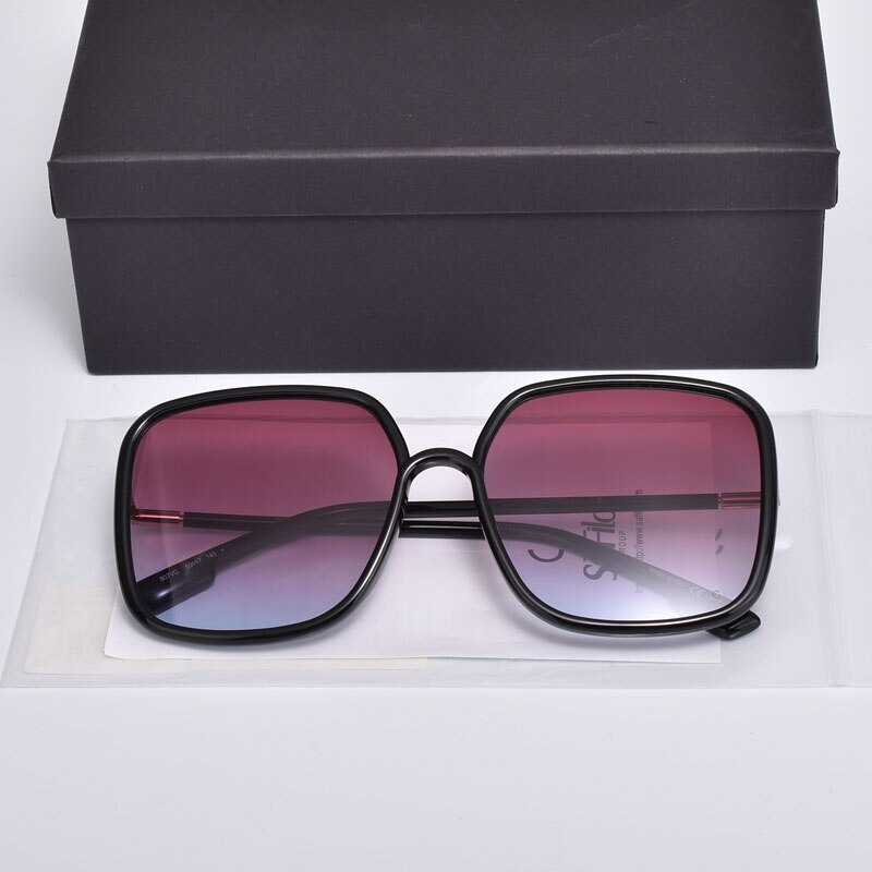 High Quality Luxury Brand Design SoStellairel Sunglasses Women Big Square Optical Eyeglasses Frames UV400 Glasses With Case