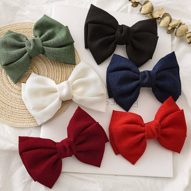Pinzas para el pelo con lazo coreano para mujer, pasadores de pelo con encaje y perlas, lazos anudados, horquillas de moda para chicas, accesorios para el cabello con horquilla francesa