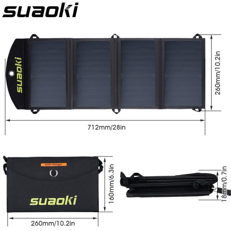 Cargador portátil Suaoki de 25W plegable y resistente al agua para teléfono móvil