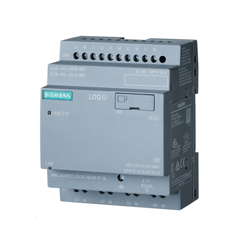 6ED1052-2CC08-0BA0 شعار! وحدة إلكترونية منطق 24ecg 8 DI/4 DQ 24 فولت 24 فولت/24 فولت/24 فولت trans 6ED10522CC080BA0