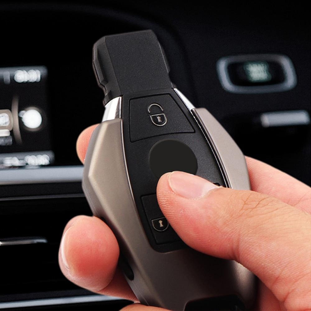 Nueva carcasa de llave a distancia de 3 botones para coche, carcasa de llave de aleación de Zinc para Mercedes Benz C S E Class W210 W212 W221 W222 W251 W463