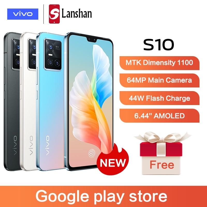 Перейти на Алиэкспресс и купить Смартфон vivo S10, 1100 дюйма, 64 мп, 44 Вт, Android 11