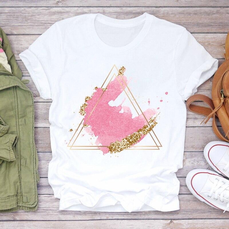 Женские футболки в стиле Харадзюку, летние женские футболки с графическим принтом, повседневные уличные модные футболки с коротким рукавом...