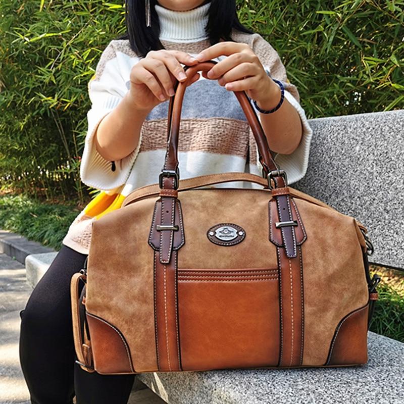 IMYOK Women's Vintage Leather Boston Bag Luxury Brand Designer Handbags Ladies Hand Shoulder Bags for Women 2020 Hot-Sale Bolsos