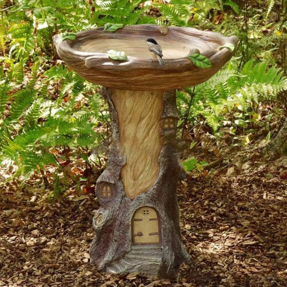 الجنية حديقة تمثال واقعية جميلة الراتنج حساسة حية منزل الطيور تمثال النحت الديكور للخارجية