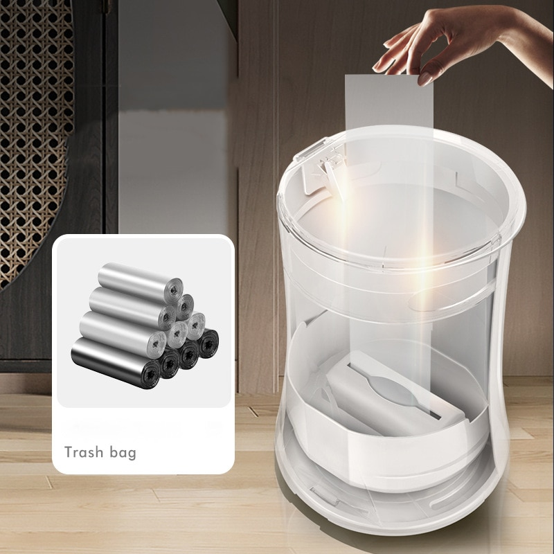 Creative Trash Can Automatic Bag Changing Sorting Trash Bin Dustbin Garbage Can For Bedroom 3color Waste Bin For Kitchen enlarge