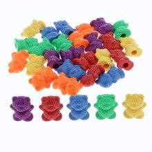 Montessori arc-en-ciel comptage ours, matériaux Non toxiques sûrs, jeu de tri correspondant enfants jouets de développement-60 pièces/ensemble