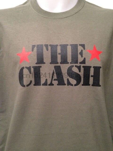 CLASH COMBAT ROCK Военная футболка JOE STRUMMER панк виниловый плакат cd dvd|Мужские футболки| |