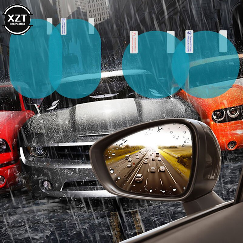 2 unids/set Anti niebla coche espejo ventana transparente película Anti-luz coche retrovisor película protectora para espejo impermeable para coche pegatina