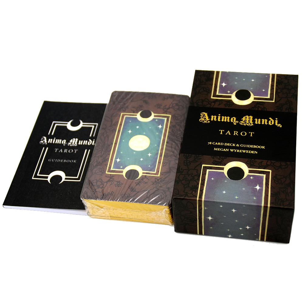 78 cartas de Tarot bañadas en oro nuevo, juegos de mesa de animales Mundi Tarot, juegos de cartas divertidos de mesa de Tarot para familia, fiesta, triangulación de envíos