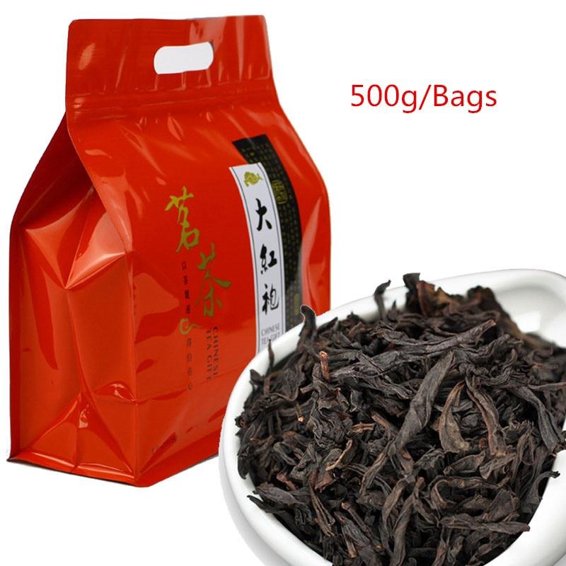 2021 الصين وويى روج الشاي 5A دا هونغ باو الشاي الصيني الكبير الأحمر رداء dahongpao-الشاي العضوي الأخضر الغذاء براد شاي 500g