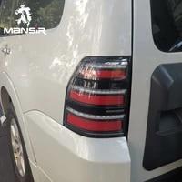led car taillight tail lamp brake reversing reverse rear lights for mitsubishi montero pajero 2006 2020 reflector turn signal