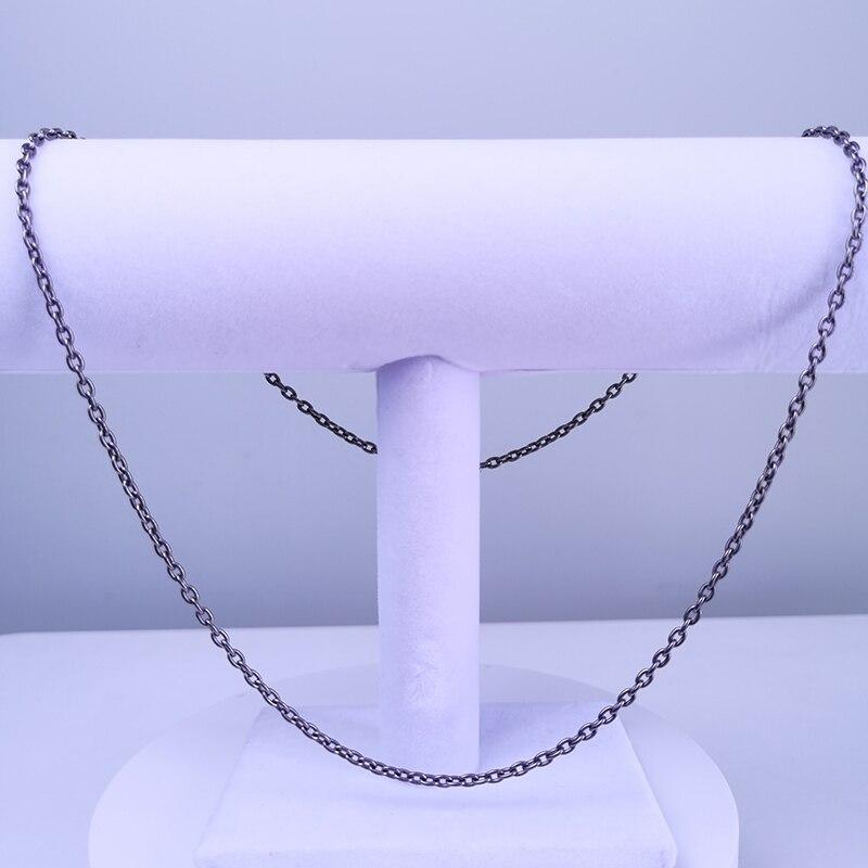 التيتانيوم النقي (TA1/Gr1) Kpop O شكل المرأة سلسلة عنق 0.3x55 سم صحي سلسلة قلادة 2021