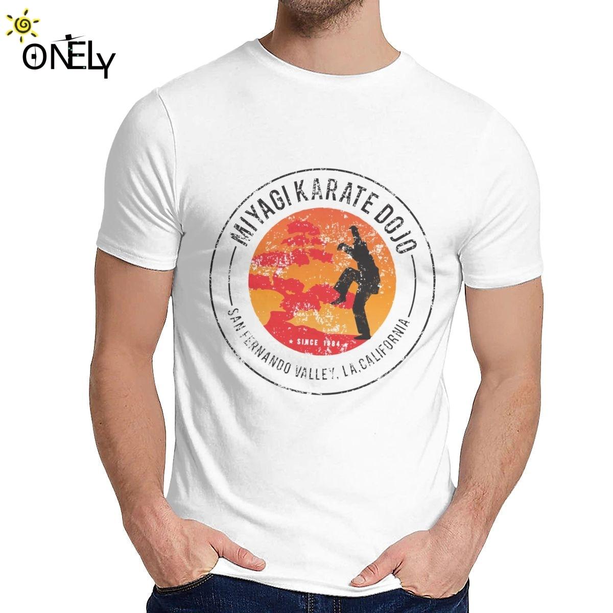 Camiseta de Dojo Miyagi con cuello redondo 2019 de algodón 100% para hombre de talla grande