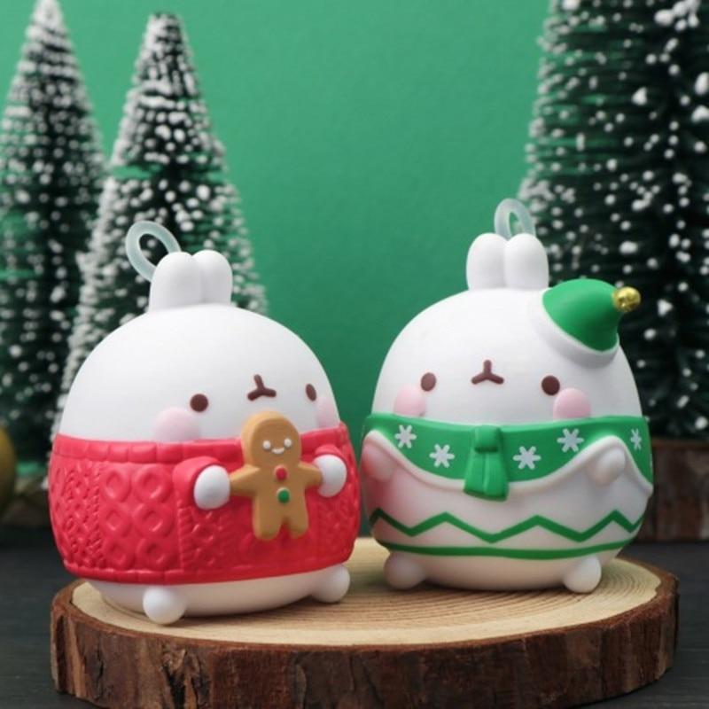 Molang أرنب عيد الميلاد الخاصة شجرة عيد الميلاد صندوق أعمى اللعب صندوق مفاجأة تخمين حقيبة الشكل الديكور الحلي للفتيات هدية