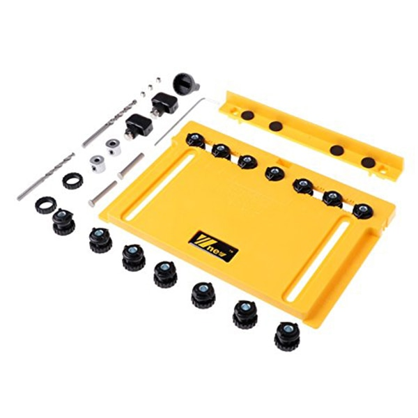 Handle Installation Measurement Tool Pull Jig and Pin Jig Shelf yellow