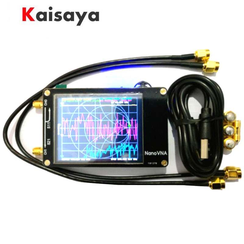 NanoVNA-محلل شبكة ناقلات مع بطارية ، شاشة لمس LCD 2.8 بوصة ، HF VHF UHF UV ، 50 كيلو هرتز-300 ميجا هرتز