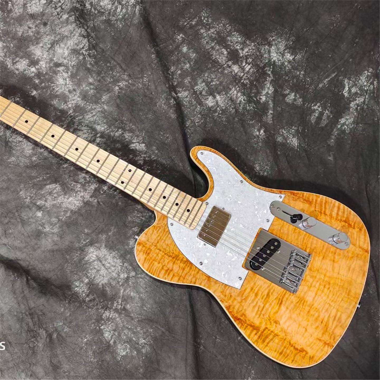 Orange Flame Maple Top TL Electric Guitar 6 Strings Solid Wood Guitarra enlarge