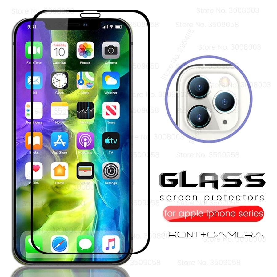 Para iphone 12 mini temperd cristal de la cámara para apple aifon iphone iphone12 i teléfono 12 pro12pro max display touch steklo película