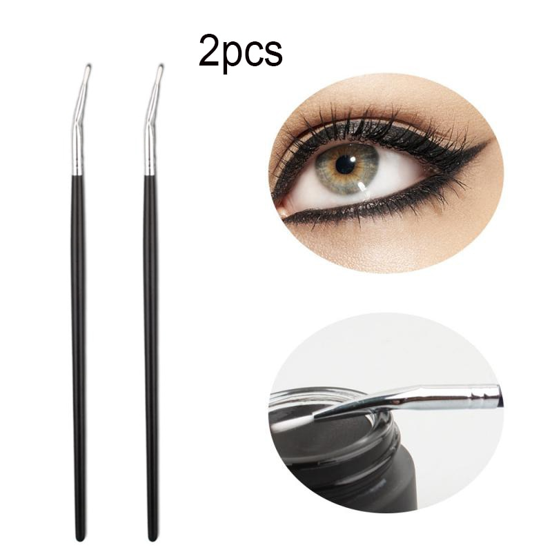 2pcs/set Hot Eyeliner Brush Professional Makeup Brushes Easy To Clean Thin Thick Line Soft Eye Makeu