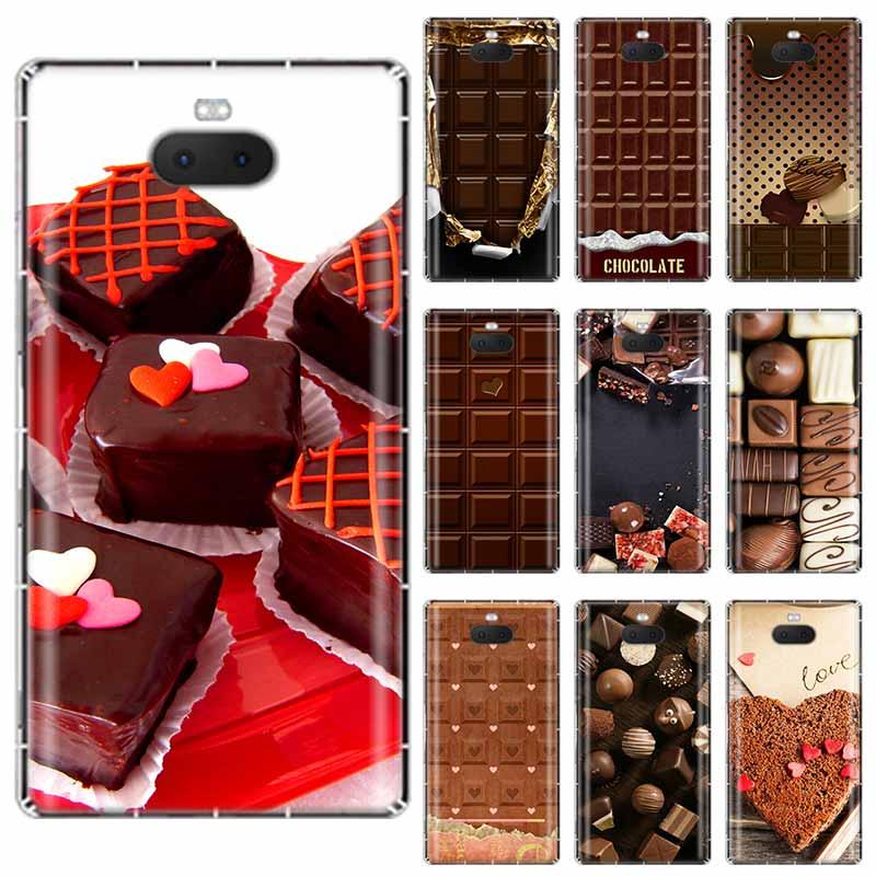 Caja de silicona TPU transparente para el día del caramelo de chocolate para Sony Xperia X XA XA1 XA2 XA3 XZ XZ1 XZ2 XZ3 XZ4 L1 L2 L3 Plus competencia