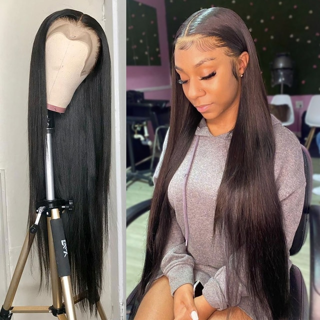 13x4 Straight Lace Front Wig Human Hair Wigs For Women Human Hair 30 Inch Full Hd Transparent Lace Frontal Wig Brazilian Bob Wig